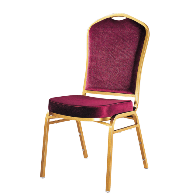 Purple Velvet Hospitality Industry Used Hotel Steel Metal Stacking Chair YE-043
