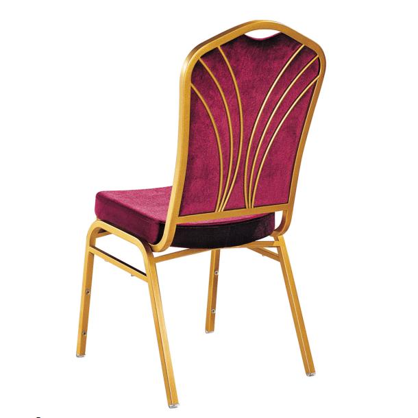 Purple Velvet Hospitality Industry Used Hotel Steel Metal Stacking Chair YE-043