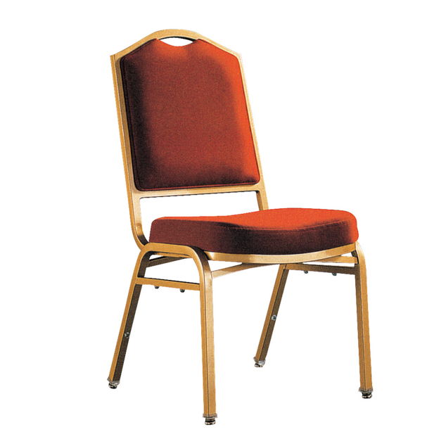 Dubai Upholstered Hotel Banquet Metal Stacking Chair YE-046