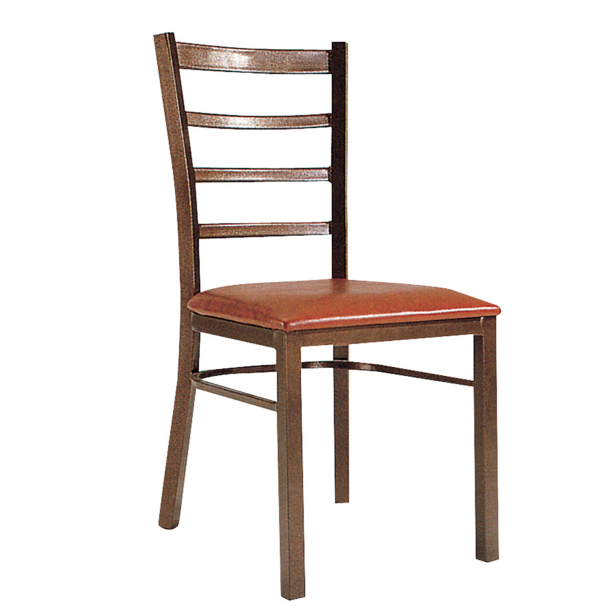 Simple Design Restaurant Leather Iron Stacking Chair YE-049