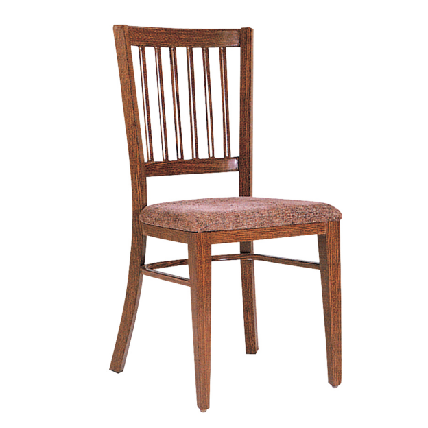 Leather Wooden Stacking Chair For Restaurant  YE-050