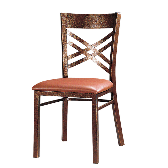 Cross-Back Design Metal Imitation Coffee Shop Cafe Wooden Iron Chair YE-051