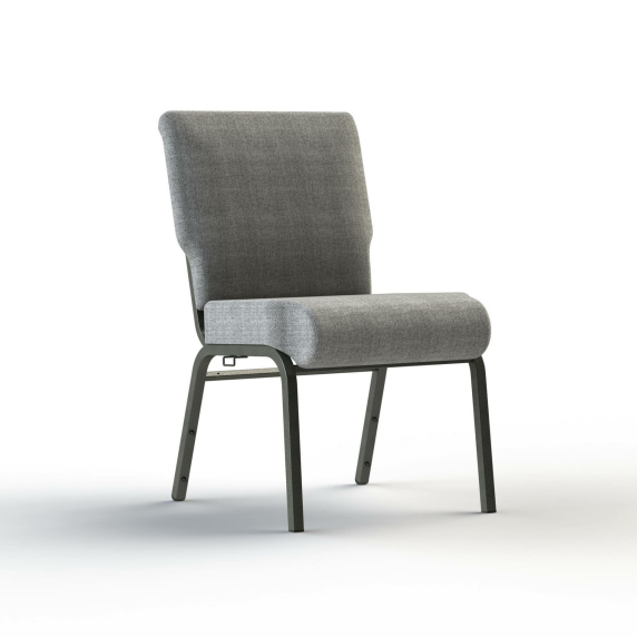Upholstered Fabric Metal Stacking Church Chair YE-053