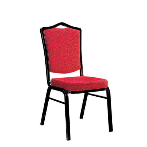 Hospitality Banquet Stack Chair Red Fabric Aluminum Chair YD-023