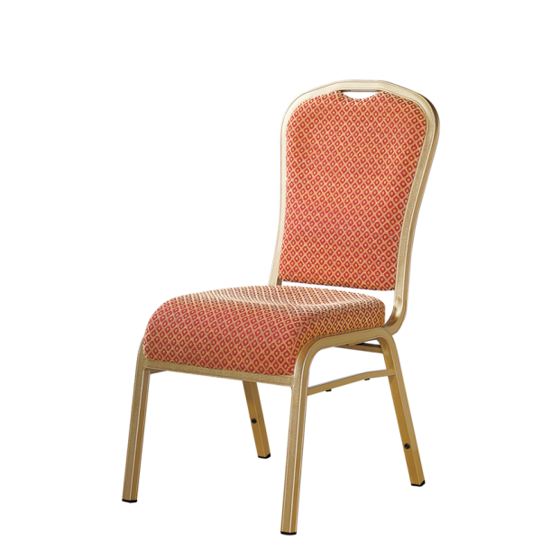Banquet Meeting Conference Aluminum Bend Upholstered Stack Chair For Hospitality YD-025