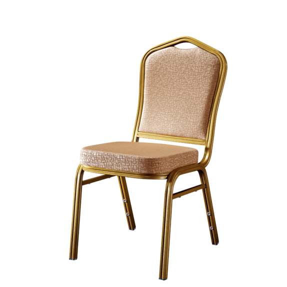 Aluminum Hotel Meeting Chair Flower Back Design Stacking Chair YD-031