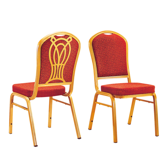 Stacking Hotel Conference Chair Aluminum Red Fabric Chair YD-032