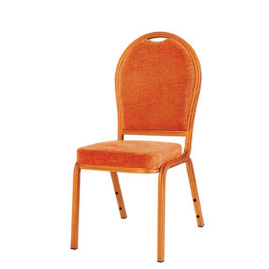 Round Back Stacking Church Chair Aluminum Upholstered Chair YD-034