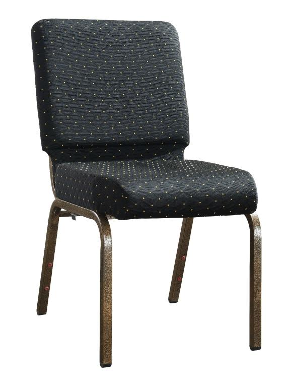 Cheap Factory Sale Black Dots Iorn Stacking Church Chair YE-057