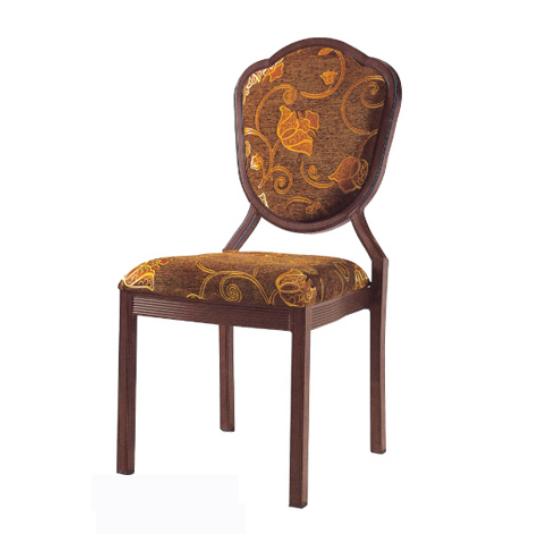Restaurant Wedding Chair Aluminum Alloy Wooden Veneer Chair YD-050