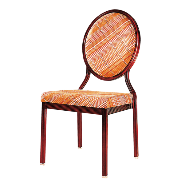 Oval Back Restaurant Reception Aluminum Stack Chair YD-053