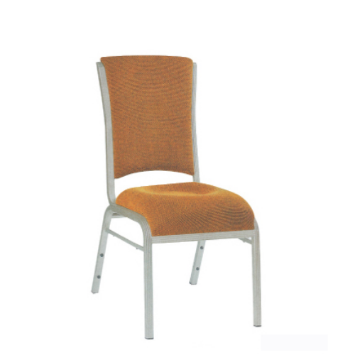 Party Office Aluminum Stacking Chair In Silver Painting YD-061