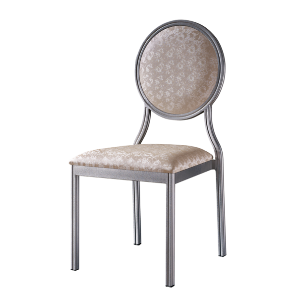 PU Leather Chair Round Party Conference Aluminum Chair YD-063