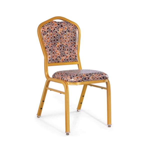 Dining Room Golden Chair Party Aluminum Stacking Chair YD-065