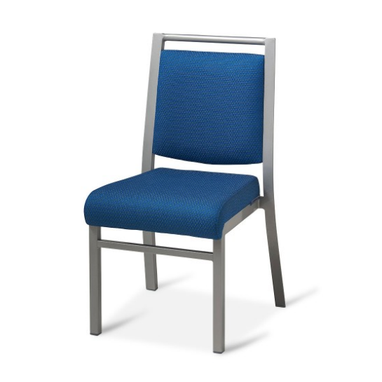 Anti-dirty Blue Fabric Conference Meeting Aluminum Stack Chair YD-066
