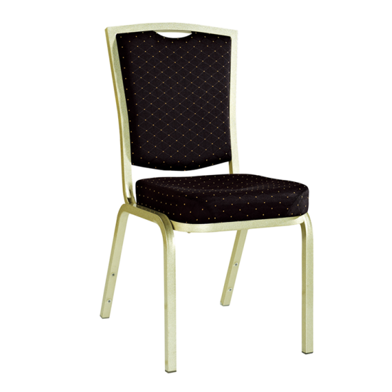 Hot Sale Office Stacking Chair Black Upholstered Aluminum Wedding Chair YD-072