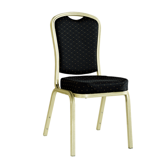Comfortable Seat Black Aluminumm Meeting Chair Stack Wedding Chair YD-073