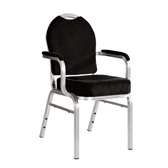 Black Armrest Conference Stacking Chair Wedding Armrest Chair YD-074