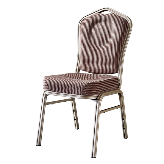 Soft Seat Stacking School Chair Silver Aluminum Wedding Chair YD-075