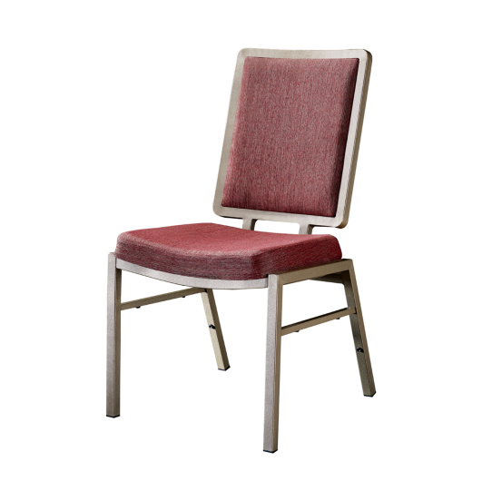Dining Room Aluminum Stacking Chair Square Flexible Back Wedding Chair YD-078