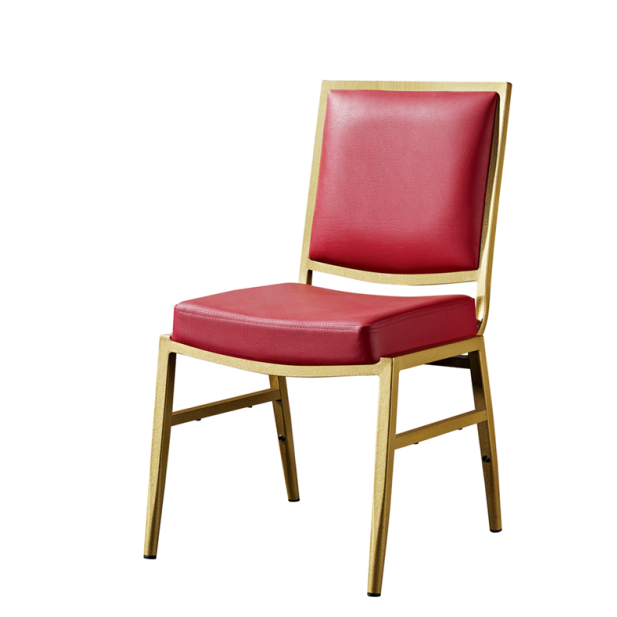Party Event Chair Golden Painting Aluminum Stackable Chair YD-083