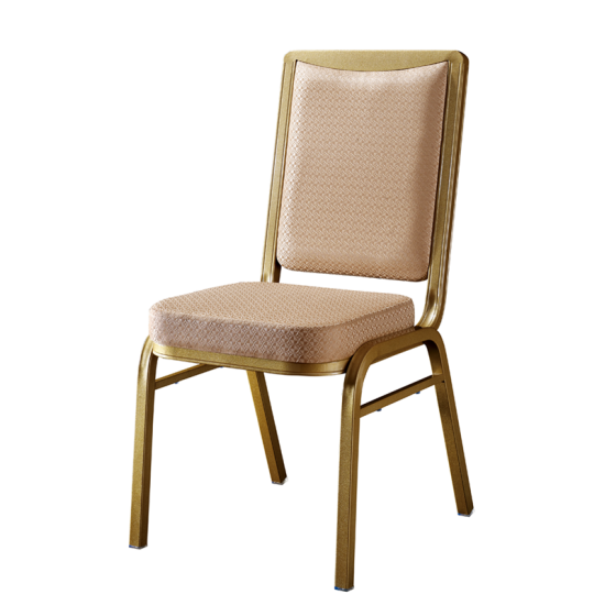 Fashion Design Hotel Wedding Event Golden Aluminum Stack Chair YD-084