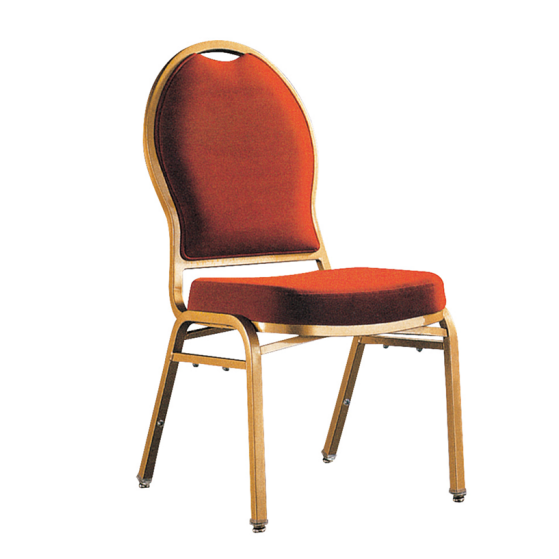 Rental Golden Painting Ballroom Chair Aluminum Stacking Church Chair YD-093