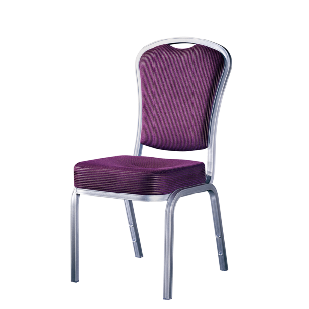 Purple Upholstered Soft Seat School Ballroom Wholesale Aluminum Chair YD-094