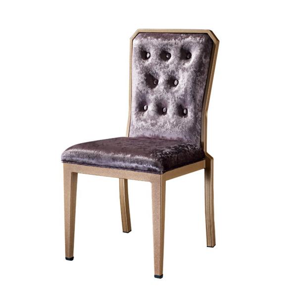 Special Velvet Button Design Restaurant Reception Aluminum Chair YD-1001