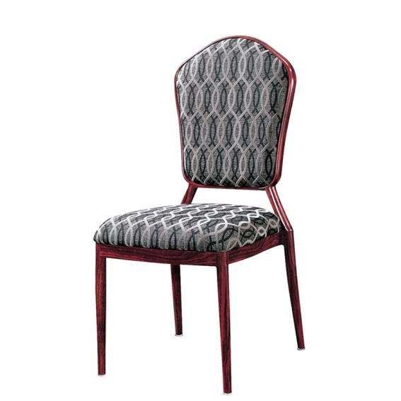 Antique Fabric Aluminum Dining Room Chair Reception Aluminum Alloy Chair YD-1003