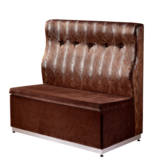 VELVET SOFA BUTTON BACK DESIGN FOR HOTEL BANQUET RESTAURANT K-003