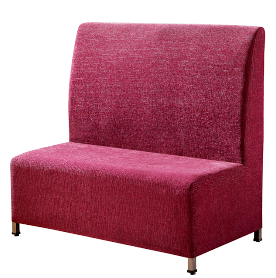 PURPLE FABRIC UPHOLSTERED HOTEL BANQUET SOFA K-007