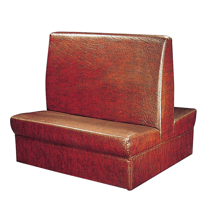ANTI-DIRTY PU LEATHER WESTERN RESTAURANT DOUBLE SOFA SEAT K-009