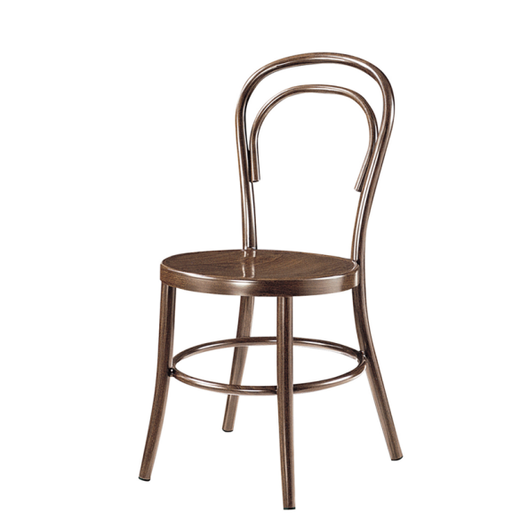 Leather Seat Coffee Shop Chair Aluminum Event Party Chair YD-1006
