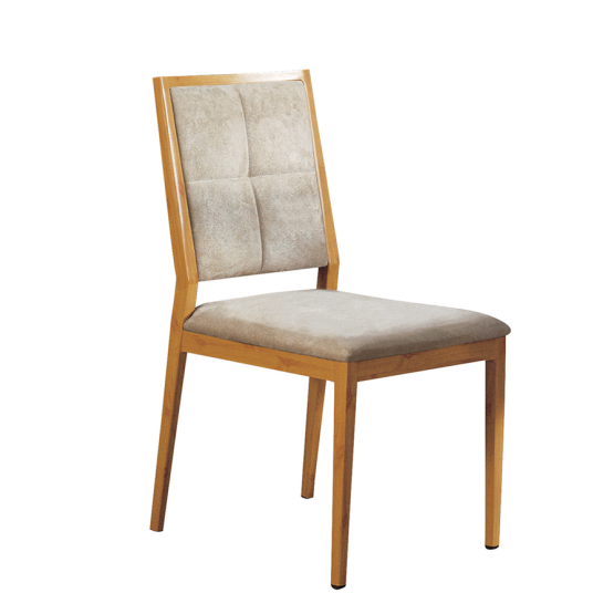 Square Seat Upholstered Aluminum Restaurant Canteen Chair YD-1010