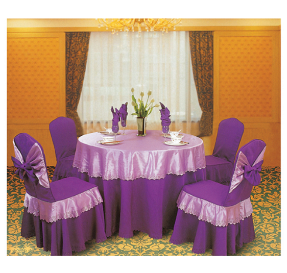 PURPLE HOTEL DECORATION DINING ROOM WEDDING CHAIR COVER LT-001