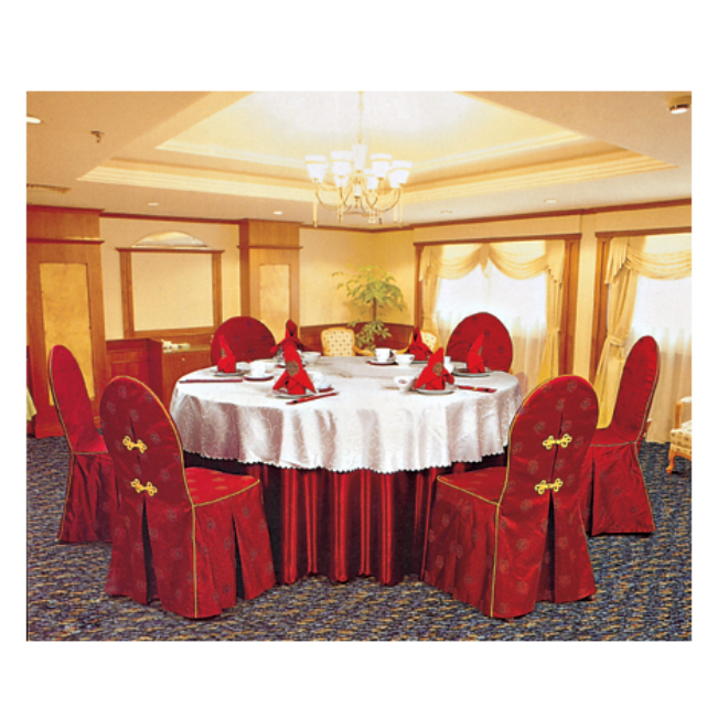 RED HOTEL DECORATION TABLE CLOTH BANQUET WEDDING PARTY HALL CHAIR COVER LT-013