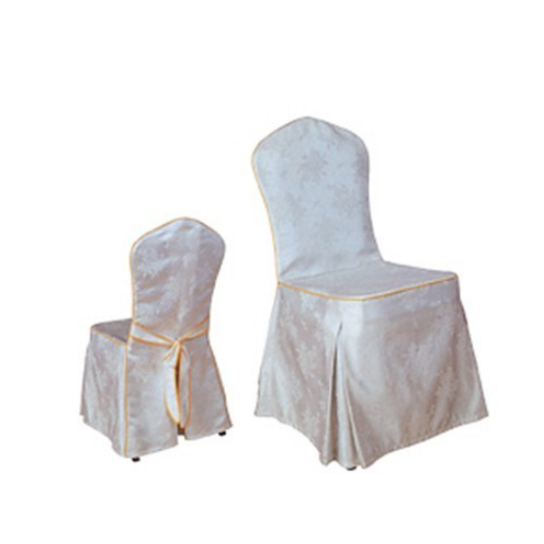HOTEL DECORATION WHITE JACQUARD CHAIR COVER Y-023