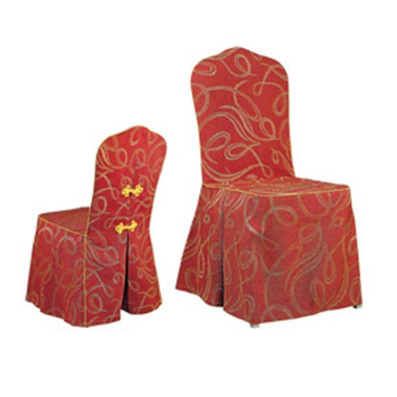RED FESTIVE BOWKNOT CHAIR COVERS HOTEL DECORATION Y-028