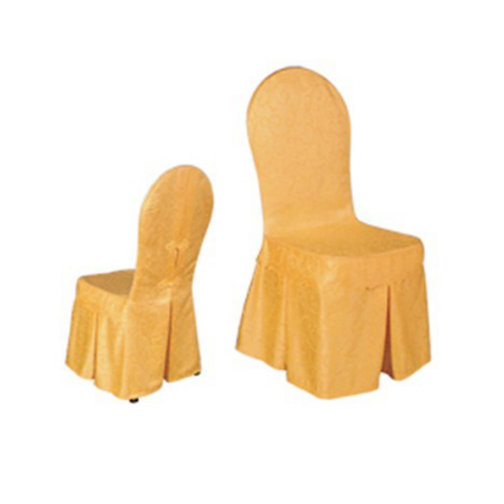 ROUND CHAIR COVER YELLOW ANTIQUE JACQUARD SKIRT CHAIR COVER Y-030