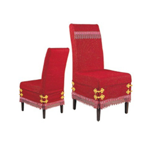 RED FESTIVE HIGH BACK CHAIR COVER BANQUET EVENT DECORATIONS Y-038
