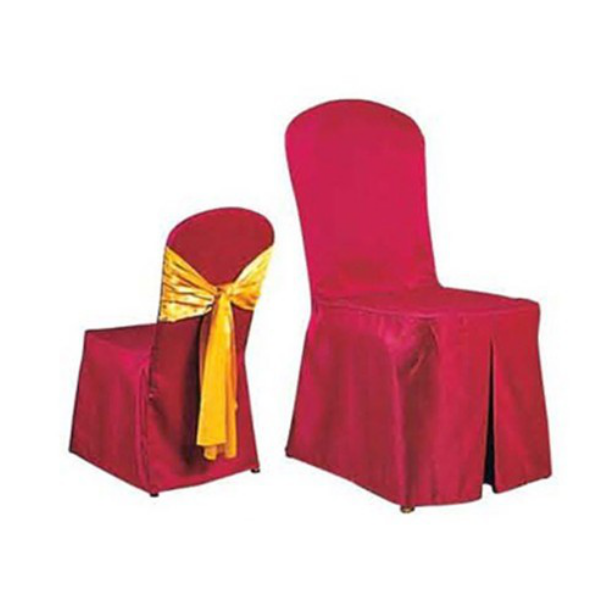 RED JACQUARD WEDDING DECORATIONS CHAIR COVER WITH BOWKNOT Y-055