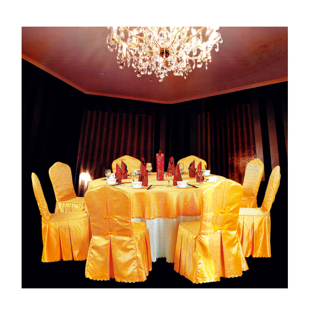 HOT SALE HOTEL RESTAURANT DECORATIONS JACQUARD CHAIR COVER TABLE CLOTH Y-062