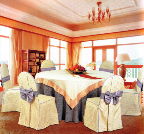 100%  POLYESTER HOTEL WEDDING JACQUARD CHAIR COVER Y-070