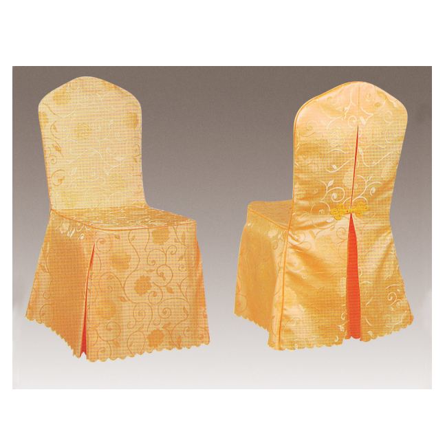HIGH QUALITY YELLOW JACQUARD BOWKNOT CHAIR COVERS Y-072