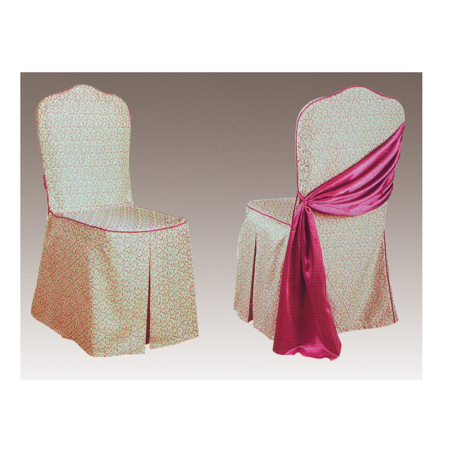 FACTORY WHOLESALE DURABLE COLORFUL RUFFLED JACQUARD CHAIR COVER Y-073