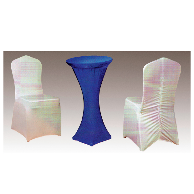 STRONG STRETCH UNIVERSAL WEDDING WHITE CHAIR COVERS SPANDEX FABRIC Y-100