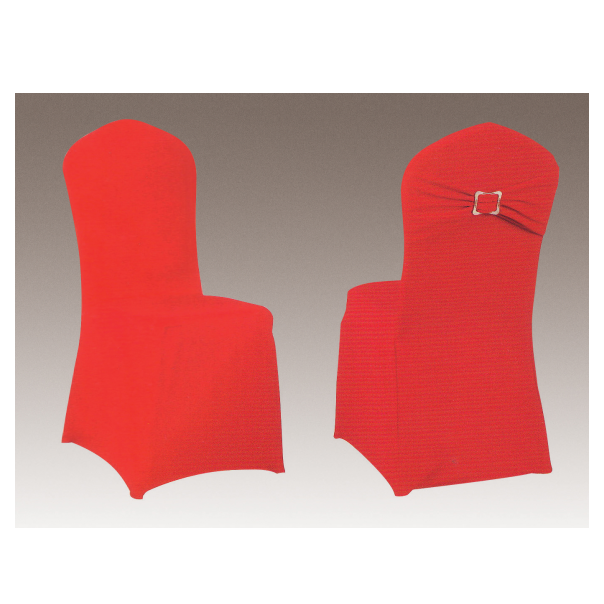 RED FESTIVE FANCY WRINKLE SPANDEX BANQUET CHAIR COVER FOR WEDDING Y-104