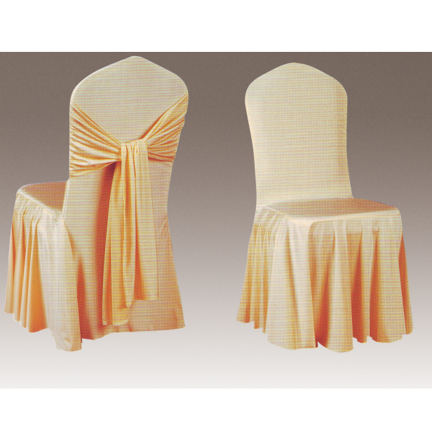 CHEAP RUFFLED WEDDING PARTY CHAIR COVER Y-112