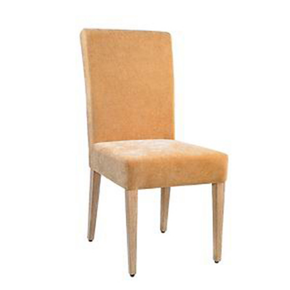 FABRIC UPHOLSTERED WEDDING IMITATION WOOD CHAIR YA-007